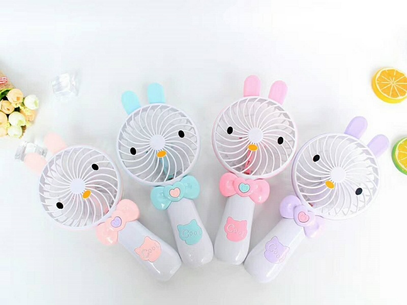 Hand-Held USB Small Fan Portable Small Electric Fan Chargeable Mini Dormitory Fan Carrying Cartoon