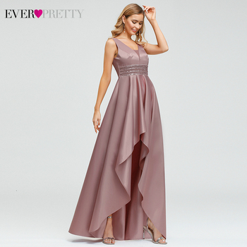 Ever Pretty Dusty Pink Prom Dresses Double V-Neck Sequined Asymmetrical Sleeveless Sparkle Formal Gowns Vestidos Formales 2020 4