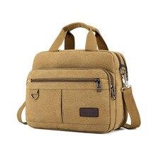 Erkek çanta rahat omuz çantası Messenger çok fonksiyonlu kanvas alet çantası