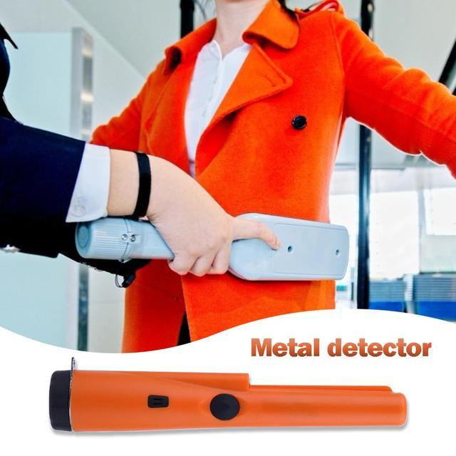 Portable Sensitivity Metal Detector Handheld Pinpointers IP66 Waterproof Metal Gold Tester Built-in LED Lights Positioning Bar 3