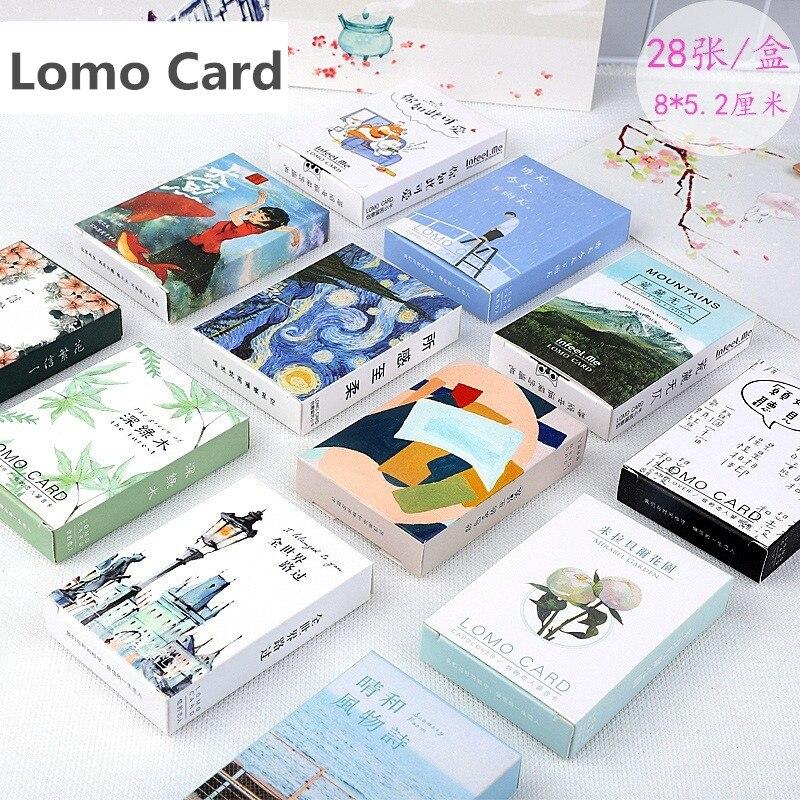 Набор из 28 листов, серия Kawaii Flower and Animal Lomo, открытка, открытка на Рождество и новый год|Визитки|   | АлиЭкспресс