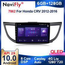 6G + 128G QLED 4G LTE CarPlay Android 10 Honda CRV için CR-V 4 RM RE 2011 2012 - 2018 araba radyo multimedya oynatıcı GPS No 2 din dvd