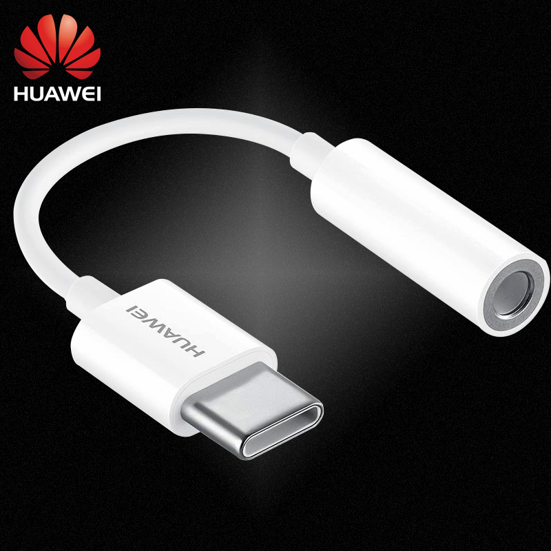 Huawei USB Headphone Converter Phone Adapter Original 3.5mm Type C Audio Cable Adapter For P10 P20 Mate10 20 Pro RS Honor 20 Pro