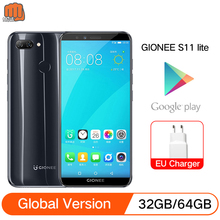 Global Version GIONEE S11 lite 4GB+32GB/64GB 5.7inch 1080P 3030mAh Smartphone Snapdragon 430 Octa Core mobile phone Android 7.1