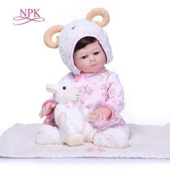 NPK New Arrival 50CM Baby Girl Doll Full Silicone Body Lifelike Bebes Reborn Bonecas Handmade Baby Toy For Kids Christmas Gifts