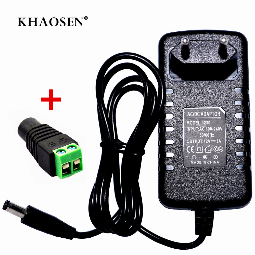 Power Supply Adapter Transformer Charger Convertor AC100V-240V To DC12V 1A 2A 3A 5A 6A 8A 10A For LED Strip + Connector  Plug