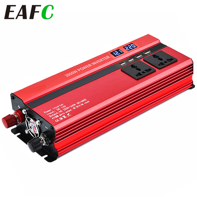 <font><b>Auto</b></font> Inverter 12v <font><b>220v</b></font> 2000W Spannung Transformator <font><b>Auto</b></font> Konverter 12 zu 220 Inverter <font><b>Auto</b></font> Power Inverter Ladegerät adapter Display image