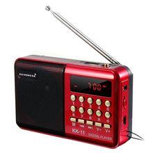 лучшая цена Mini Portable Handheld K11 Radio Multifunctional Rechargeable Digital FM USB TF MP3 Player Speaker Devices Supplies