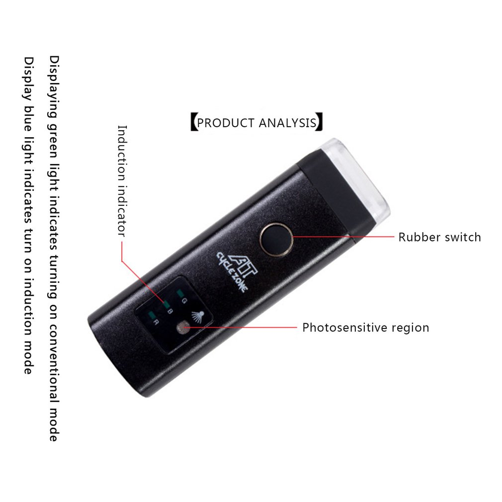 Bicycle Headlight Rear Lights Bicycle Brake Automatic Induction Led Waterproof Mountain Bike Lighting Usb Smart Sensor in Bicycle Light from Sports Entertainment