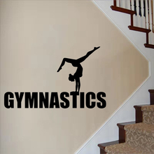 Gymnastics Girls Yoga Wall Sticker Living Room Decor Sports Gym adesivo Art Sports Poster Dance Wall Art Mural sports art art e875