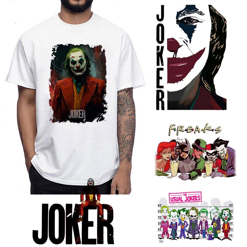 Joker Joaquin Phoenix T Shirt Short Sleeve Boy/girl/kids Top Tees Men T-shirt Funny Halloween Horror Satan Chucky TShirt Shirt