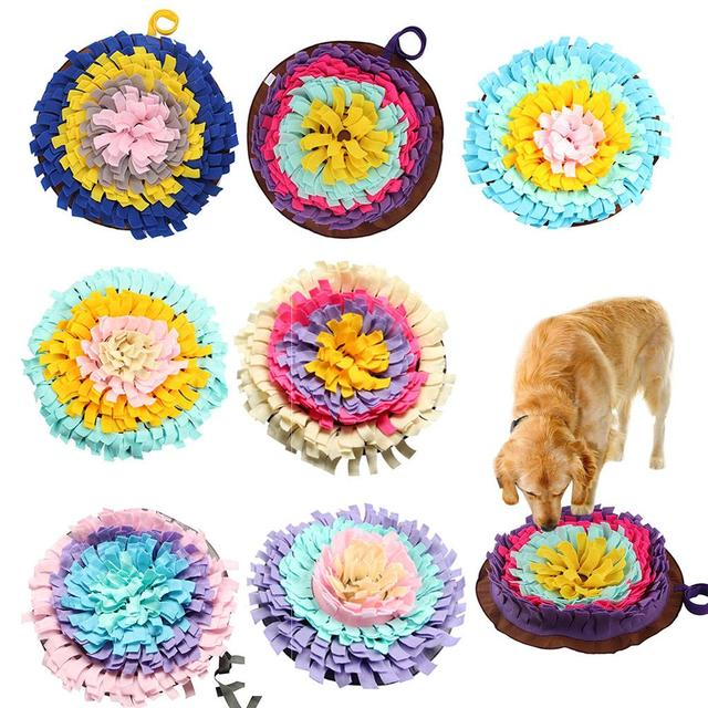 Dogs Snuffle Mat Pet Leak Food Anti Choking Mat Cat Dog Training Blanket Nose Work Toy Pet Slowing Feeding Intelligence Mat 1