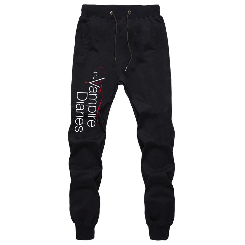 The Vampire Diaries Mens Pants Joggers Bodybuilding Gyms Fitness Sweatpants Autumn Winter Sportswear Trousers Harem Pants