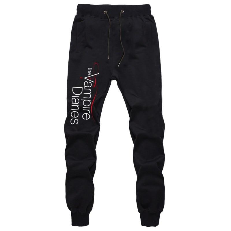 The Vampire Diaries Mens Pants Joggers Bodybuilding Gyms Fitness Sweatpants Autumn Winter Sportswear Trousers Harem Pants