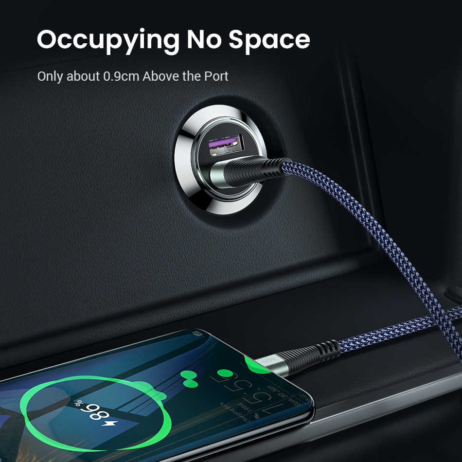 Cargador de coche FIVI Dual QC 3,0 cargador USB carga rápida para Samsung S8 S9 S10 Xiaomi mi 9 Huawei mi ni cargador de teléfono USB de Metal