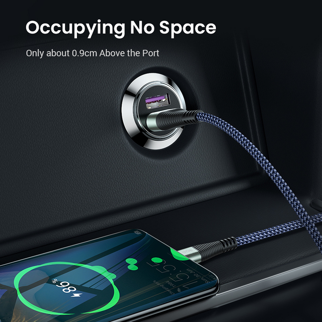FIVI Car Charger for mobile phone quick charge 3.0  USB Charger for iphone 11 pro Samsung huawei xiaomi mini car chargeAll Metal 4
