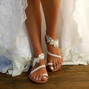 women sandals Summer Sandals For Women Slip-On Flat Shoe Female flower Open Toe Slip-On Beach Slipper women sandals 2020