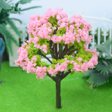 50 PCS pink plastic model tree DIY material micro landscape model,model train ho scale 1/87 modelspoor ho treinen diorama 1 87 ho train model 40 feet container oceangoing ship freighter boat accessories scale model parts