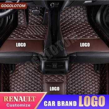 Custom Car Floor Mats For Renault Fluence Kadjar Captur Scenic 3 Laguna 3 Logan Sandero Duster Megane Car Styling Accessories