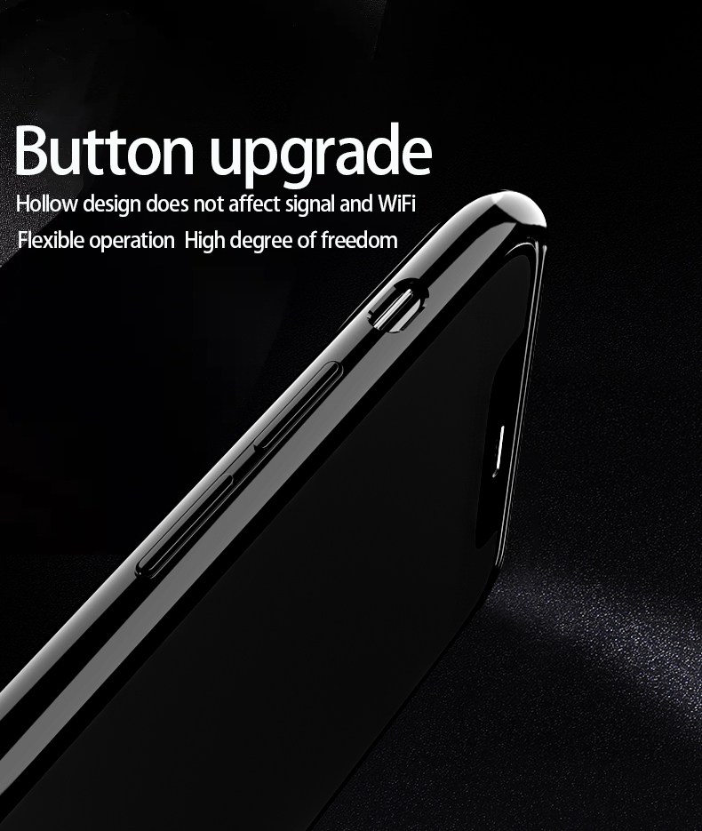 H6bda72bf0f4440c1bca7abbbe0fed6ebS Plastic shell for iphone X XR XS MAX glass case iPhone 7 8 PLUS 11 Pro MAX ultra-thin anti-fall cover 360° surrounding shell