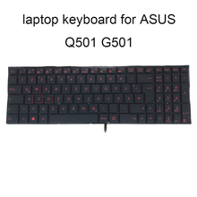 Replacement keyboards Q501 Backlight keyboard for ASUS Q501L Q501LA G501 GR GE German black KB red keys 0KNB0 662MGE00 Low price