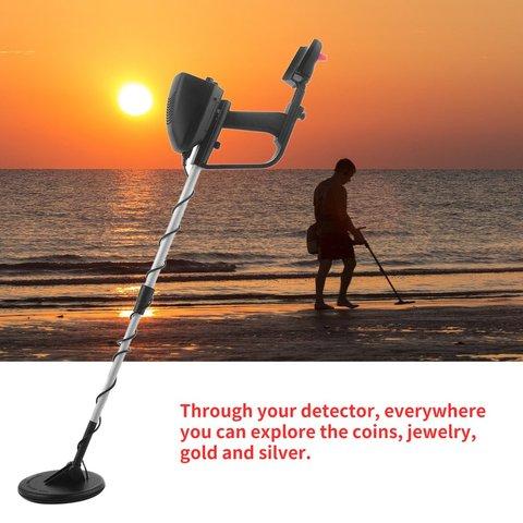 portatil comprimento ajustavel ouro tesouro metal finder hunter sob agua rasa md4030