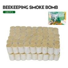 108 יח\שקית עשן פצצות דבורת כוורן ייעודי צמחים Fumigating ב דבורים תיבת לחטא גידול דבורים ציוד כוורת כלי