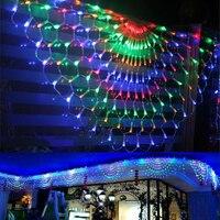 3M 444 LED 3pcs Peacock Outdoor Net Mesh Fairy String Light Christmas Wedding Window Icicle Fairy String Lights Garland Decor