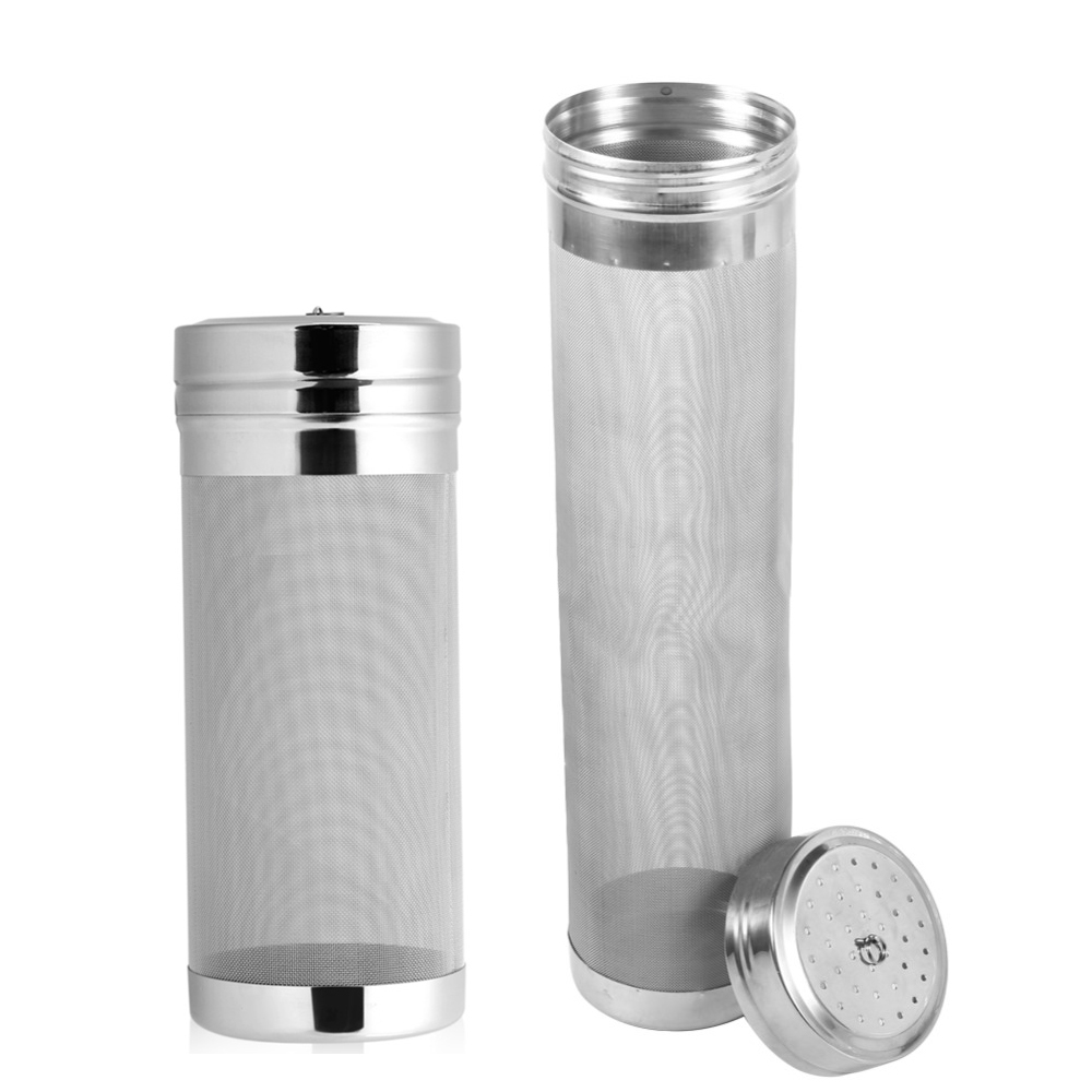 7x18/ 7x29cm Home Brew 300 Micron Stainless Steel Hop Spider Mesh Beer Filter Strainer Dry Hopper For Home Brew Spider Filter