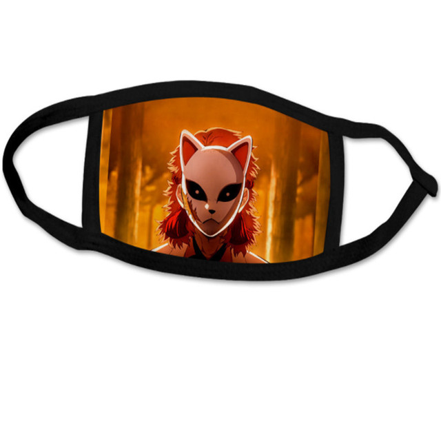 Anime Demon Slayer Kimetsu no Yaiba Agatsuma Zenitsu Cosplay Mask Tomioka Giyuu Cotton Street Sports Half Face Dust-Proof Masks 4