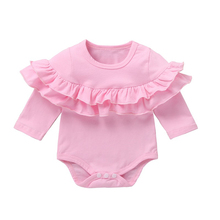Baby Clothes Girl Romper New Born Long Sleeve Kids Girls Jumpsuit Baby Girl Clothes Infant Soild Color Onesie Costume 0-24M