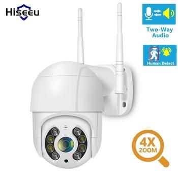 Hiseeu 1080P WIFI IP PTZ 2MP Camera Dome ONVIF Outdoor Waterproof Security Speed Camera SD Card Wireless IP Camera Remote View 1