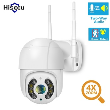 цена на Hiseeu 1080P WIFI IP PTZ 2MP Camera Dome ONVIF Outdoor Waterproof Security Speed Camera SD Card Wireless IP Camera Remote View