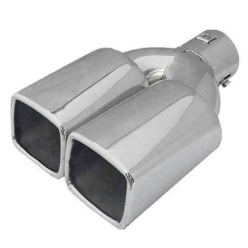 63Mm 2.5 inch Inlet Stainless Steel Car Rear Tail Dual Exhaust Muffler Tip Pipe|Exhaust Manifolds| |  - title=
