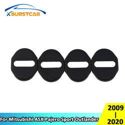 Xburstcar 4 unids/set cubierta protectora de bloqueo de puerta de coche embellecedor para Mitsubishi ASX Pajero Sport Outlander 2009 - 2020
