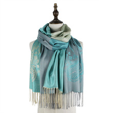 Jacquard scarf shawls rayon long fashion paisley mujer new wraps capes scarves shawl women brand graceful winter tippet