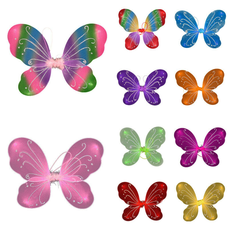 Princess Kids Girl Party Costume Fairy Butterfly Wings Fancy Dress Girls Fancy Dress Dressing Up Ladies Party Prop