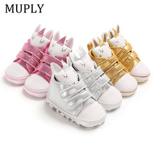 New Cute Rabbit Baby Shoes Sneakers Soft Bottom Anti Slip Children Toddler Shoes Baby Boy Girl Shoes Girls First Walkers