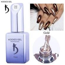KODIES GEL 2021 Platin Diamant Gel Nagellack für Maniküre Glitter Holographische Silber Gold Bling Nail art Vernis Mangel An Lack