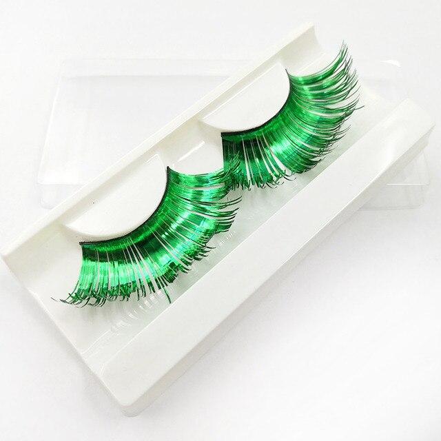 1 Pair Colorful Thick Plus Long False Eyelash Festival Party Costume Eye Lashes Women Pretty Charming False Eyelash Makeup Tools 2