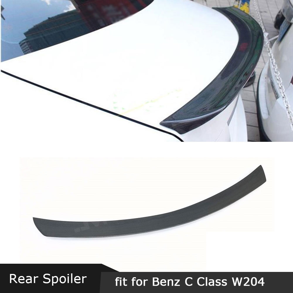 For <font><b>W204</b></font> Carbon Fiber Rear <font><b>Spoiler</b></font> Trunk Trim Wings For <font><b>Mercedes</b></font> <font><b>Benz</b></font> <font><b>C</b></font> <font><b>Class</b></font> <font><b>W204</b></font> C63 AMG 2008-2011 FRP V Style Boot <font><b>Spoiler</b></font> image
