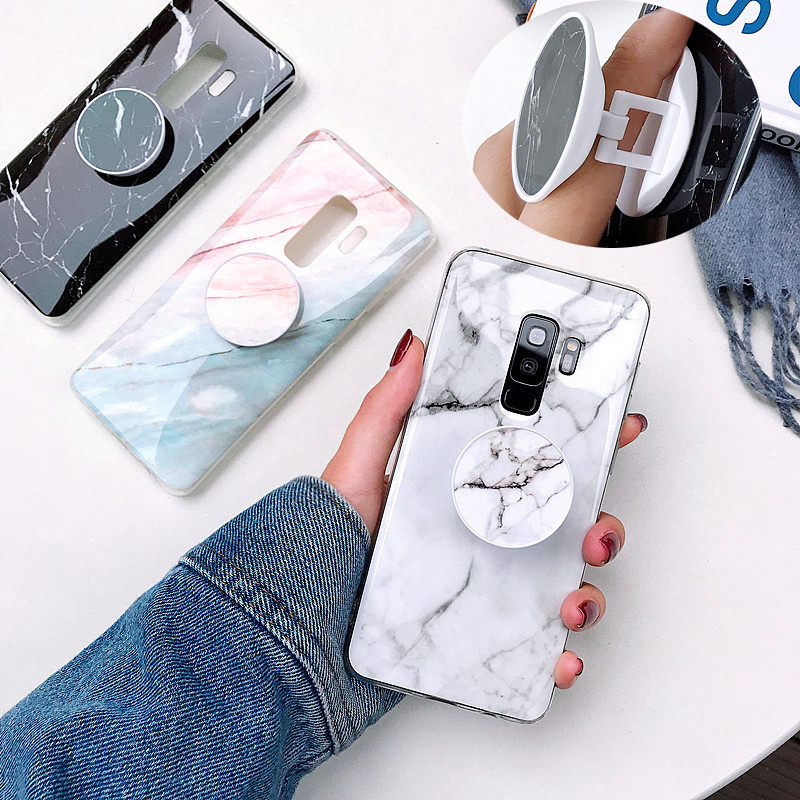 S10e Marble Cases For Samsung Galaxy S7 Edge S8 S9 Plus SoftTPU Case Note 8 9 A10 A20 A30 A50 M 10 Cover Phone Holder Coque