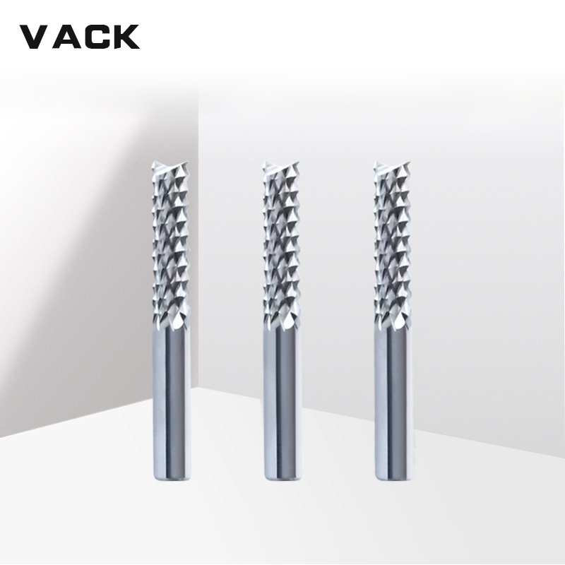 VACK 3.175mm 4mm 6mm 8mm Carbide Tungsten Corn Cutter Pcb Milling Cutters End Mill CNC Router Bits For Wood Engraving Machine