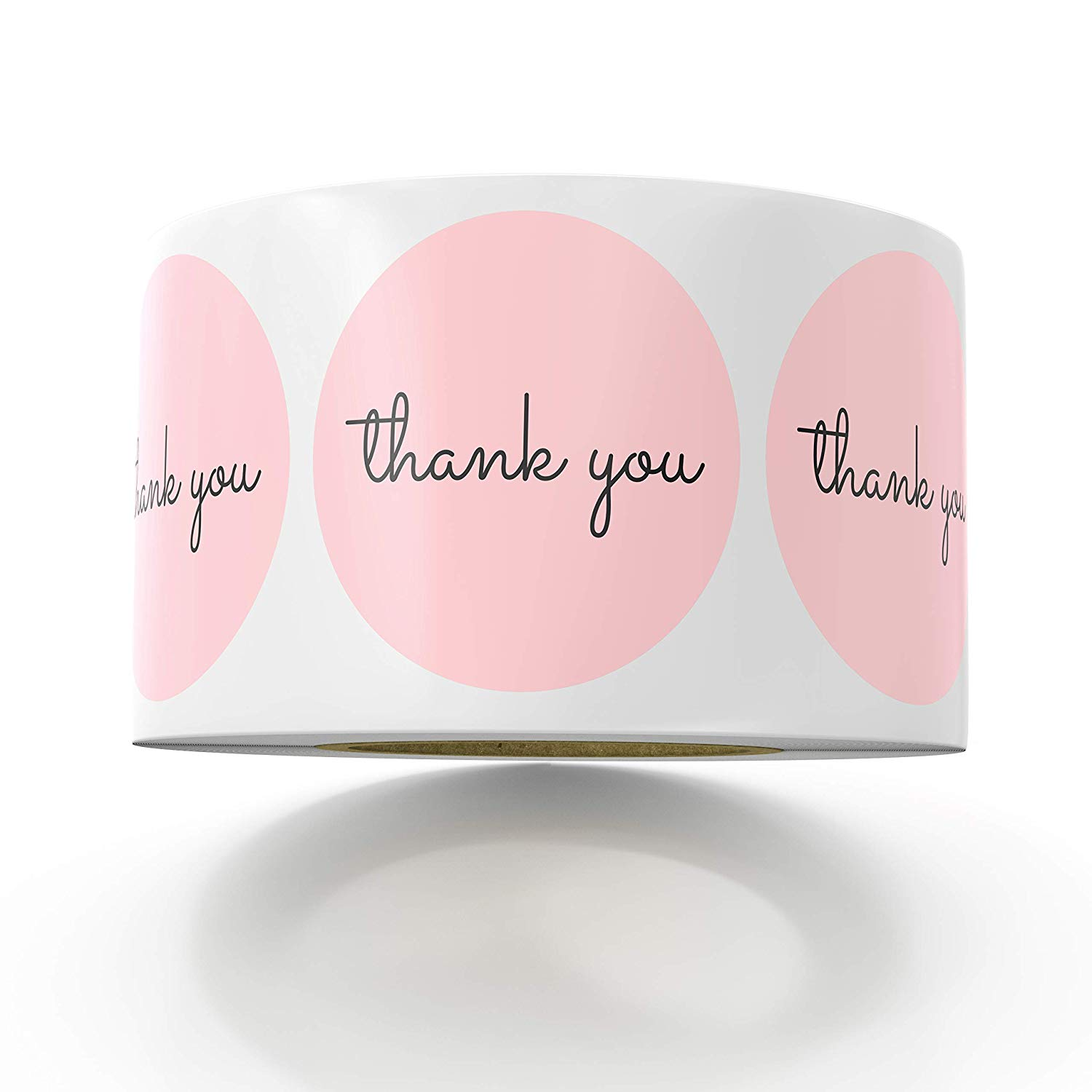 1inch Thank You Stickers Pink Stickers For Company Giveaway &Birthday Party Favors Labels &Mailing Supplies Baking Label Custom