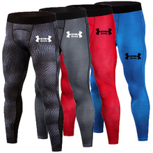 цена на 2019 Brand Compression Pant Snake Scale Print Quick Drying Men Sports Tights Sports Leggings Gyms Jogging Elastic Yoga Clothing