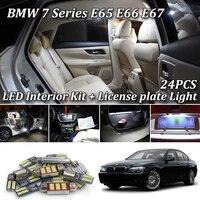 24pcs LED Interior dome map reading Lights bulb Kit for bmw 7 series E65 E66 E67 745Li 750Li 760Li 745i 750i (2001 2008)