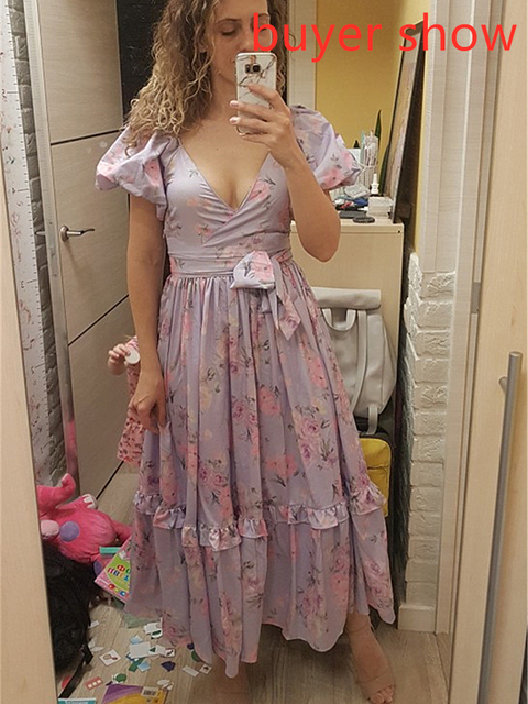 soft and ruffled puff sleeve dress 5
