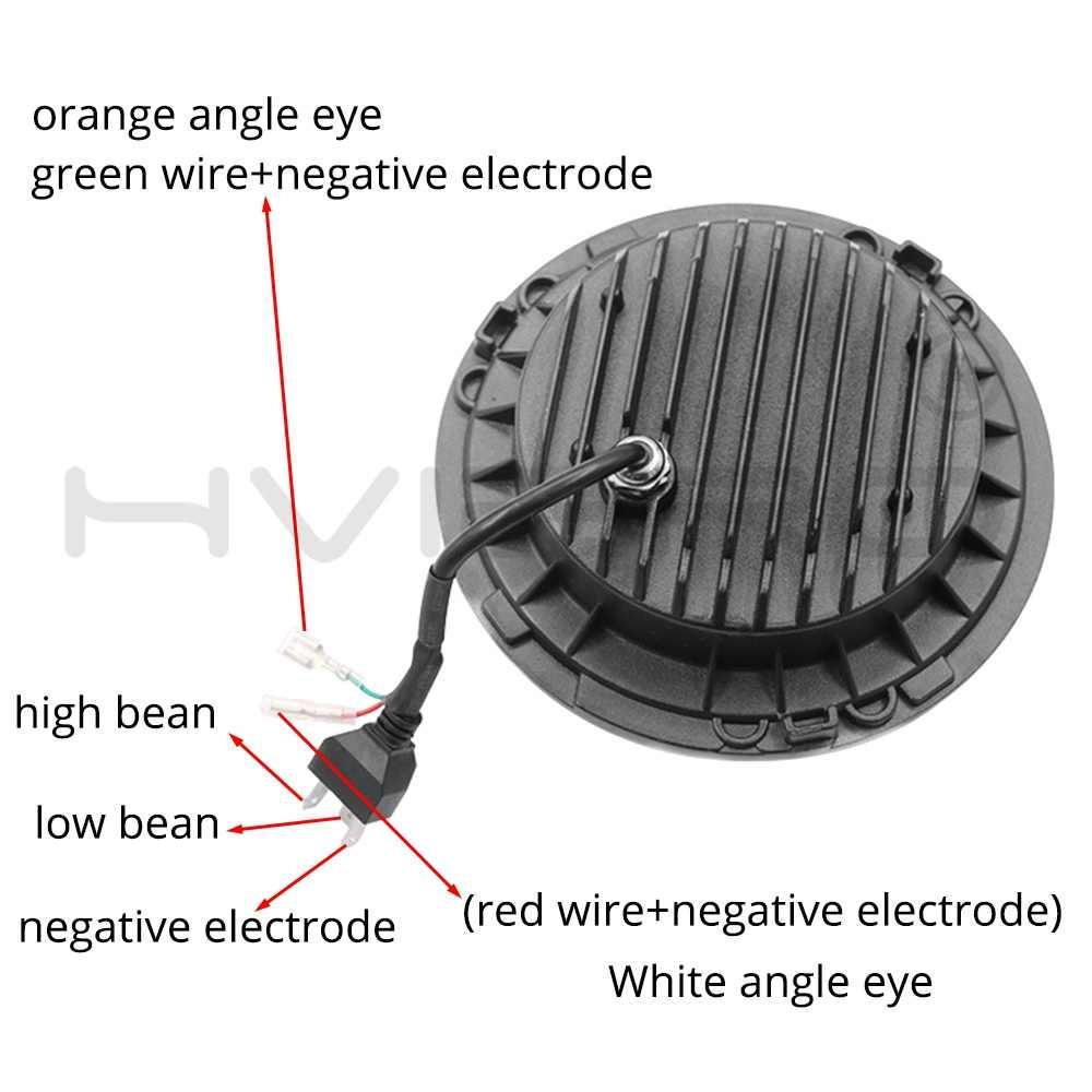 7 インチオートバイledヘッドライト 12 12v 45 ワットモト作業スポットライトヘッドランプ 6500 18k補助ライトled電球スマート電球