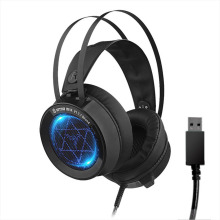 цена на Stereo Gaming Headset 7.1 Virtual Surround Bass Gaming Earphone Headphone with Mic LED Light for Computer PC Gamer