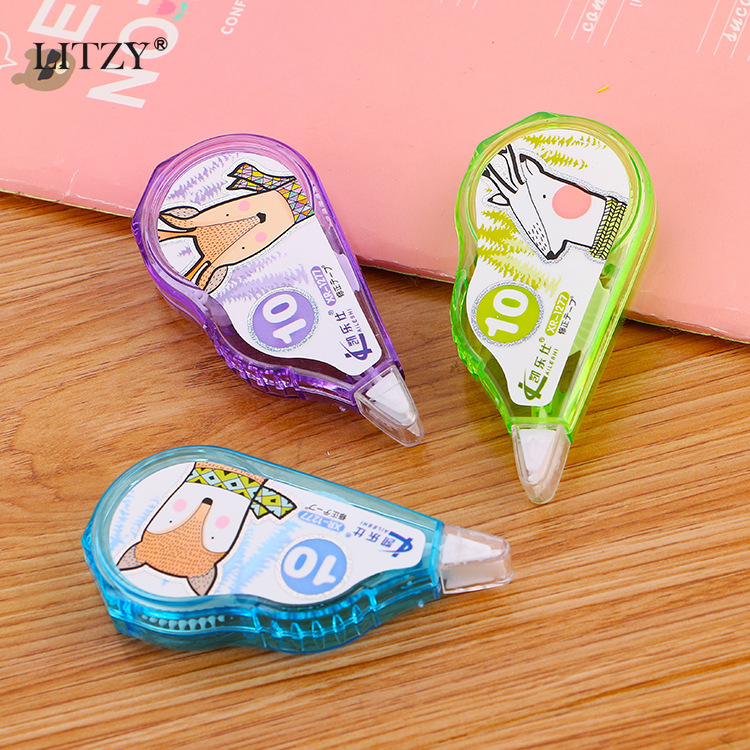 10m Kawaii Correction Tapes Cartoon Animals Correction Tape For School Corrector Tools Girls Kids Gift Supplies Cute Stationery